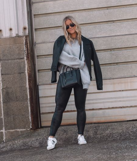 My must have pieces from the Nordstrom Anniversary Sale! These #Spanx faux leather leggings are a closet staple! They don't go on sale very often so this is the perfect time to snag them!   #LTKunder100 #LTKsalealert #LTKstyletip