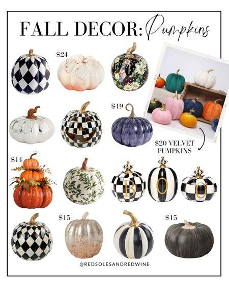 Fall Decor: Pumpkins, pretty pumpkin decor, decor Pumpkins, Mackenzie-child's pumpkins, black and white pumpkins, Halloween decor, home decor #falldecor #pumpkindecor #mackenziechilds   #LTKhome #LTKSeasonal