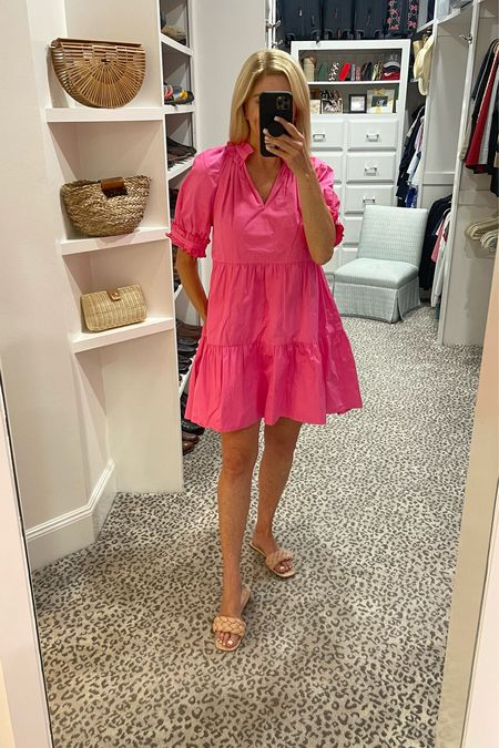 How cute is this pink dress? Wearing a size S.     #LTKshoecrush #LTKstyletip