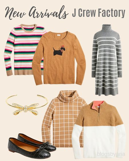 I'm loving these new sweaters from J Crew Factory and I this bow bracelet would make a perfect stocking stuffer!!   #LTKsalealert #LTKstyletip