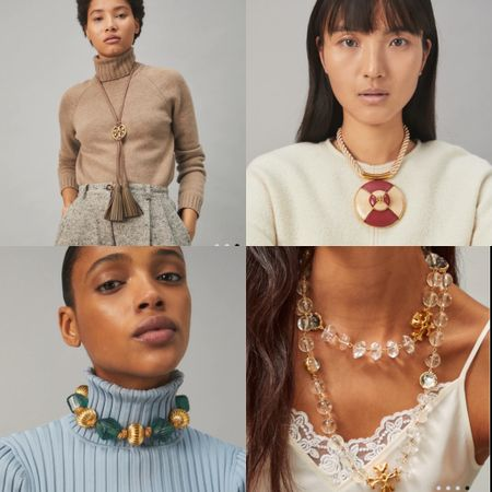 These necklaces from Tory Burch are so beautiful 😍😍  #LTKcurves