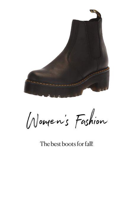 Amazon Fashion. Women's doc marten boots   #LTKstyletip #LTKunder100 #LTKshoecrush