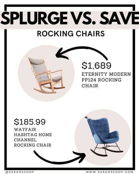Enjoy some sun on your patio this summer while sitting comfortably in these rocking chairs. #LTKsplurgevssave   #LTKfamily #LTKhome