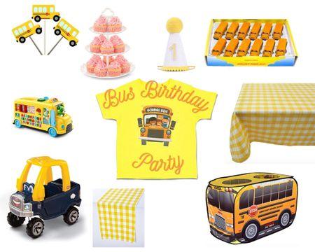 Bus birthday party Essentials!   #2Birthday #Birthday #KidsBirthday #LTKBirthdayParty #LTKParty #LTKBirthday #LTK