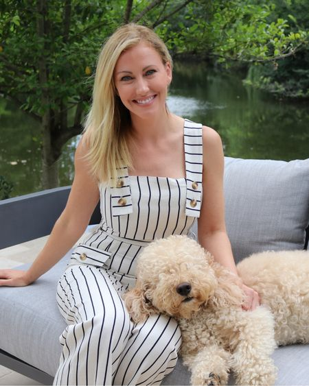 Taking in the summer sun with my favorite little furry guy. We are enjoying our new outdoor couch before, just like our chairs, it floats down stream 🤣 Shop this look on my @liketoknow.it page ❤️ Everything is linked! Happy Monday! #liketkit http://liketk.it/2D1b2 #RHOD