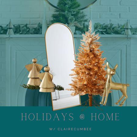 Gold living room decor Mirror on sale Tree Thanksgiving  Christmas  Angel  Den decor   #LTKHoliday #LTKhome #LTKSeasonal