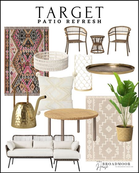 Target has the best patio furniture! It's affordable and so cute!  Patio furniture Outdoor Furniture Outdoor Living BoHo outdoor rug, neutral rug, scalloped, brush tray, kitchen tray, floor tree, coastal, patio set, patio chair, patio sofa, outdoor coffee table, outdoor pillows, Spring Decor, summer Decor, poolside, pool furniture, target home, target Finds, rattan, Woven, wicker  #LTKstyletip #LTKSeasonal #LTKhome