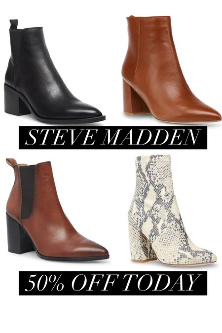 Yup you know I love ❤️ a good deal and steal on the classics. Select styles of #stevemadden are marked down 50% off today! 😁 http://liketk.it/33OZg #liketkit @liketoknow.it #thebookofcaleb #bootsale #winterboots #blackbooties #brownbooties #snakeskinboots #sale #ltksale #LTKunder100 #LTKshoecrush #LTKsalealert #midweststyle #winterstyle #workwear #affordablestyle