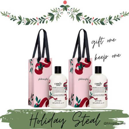 Grab this holiday steal philosophy holiday shower gel!! Gift one and keep one!! Makes great stocking stuffers or teacher gift! Gift guide stocking stuffers gift guide for her gifts for her gifts under $50  #LTKGiftGuide #LTKunder50 #LTKHoliday