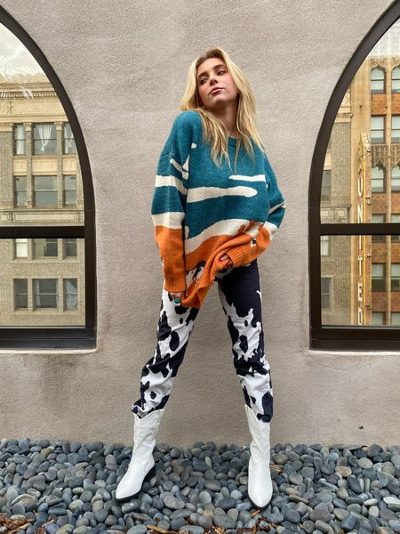 This cow print fit is to die for. I love how the pants and top match up exactly. Top is originally from Aelferic Eden and bottoms originally from House of Sunny! I've linked some similar options down below!   #LTKVDay #LTKfit #LTKstyletip