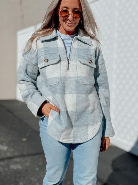 Shacket Jacket Coat Plaid Fall outfit   #LTKSeasonal