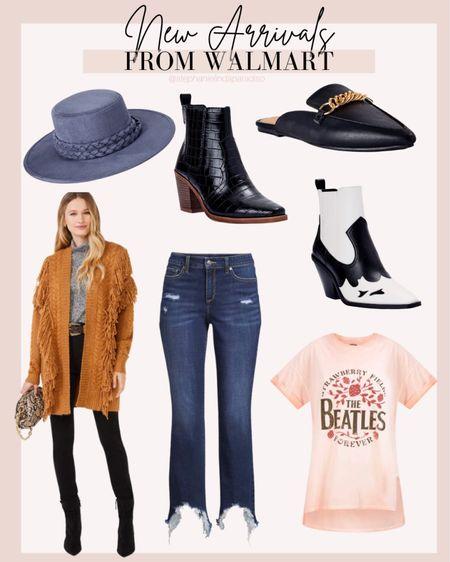 Walmart,  fall fashion, fall outfits, cozy fringe cardigan, affordable fashion, curvy fashion, western boots, chain mules   #LTKcurves #LTKSeasonal #LTKunder50