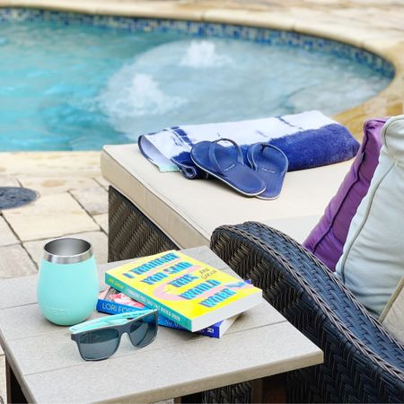 If you need me, I'll be here. ☀️📚💙   #LTKhome #LTKswim