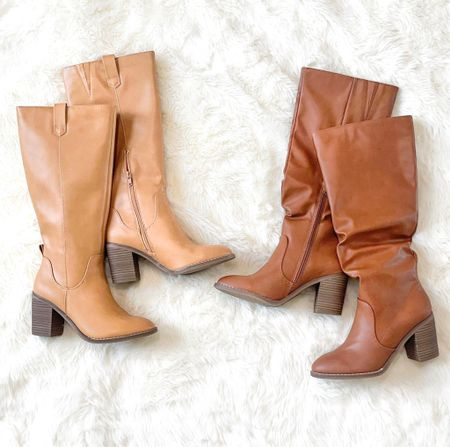 More riding boots from @Target! Which one do you like better?  My favorite are the Davinia heeled riding boot (on the left) but really you can't go wrong with either!    #LTKunder50 #LTKsalealert #LTKshoecrush