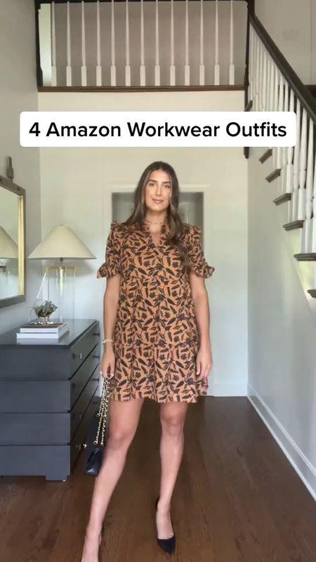 Amazon workwear outfits, stayed TTS in all of them   #LTKworkwear #LTKunder50 #LTKSeasonal