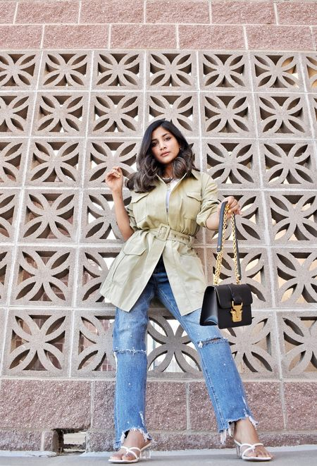 Get into your favorite pair of jeans. Loving the new loose fit jeans in my wardrobe these days. This summer trench is a shein find and I got these jeans from Asos. #summeroutfits #summerjeans #competition #summer   #LTKSpringSale #LTKSeasonal #LTKstyletip