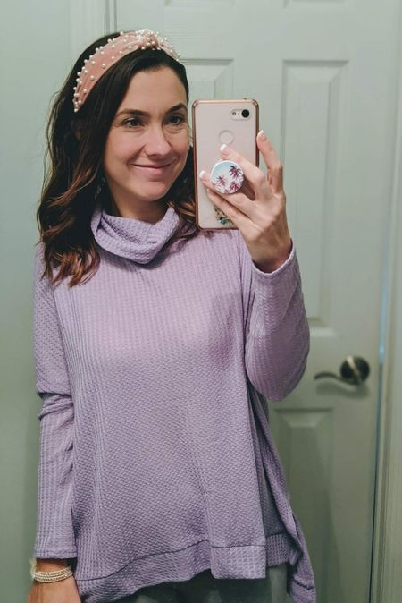 Adorable lilac waffle knit tunic top for spring. Also loving these pearl headbands - the perfect accessory!   http://liketk.it/2JZeJ @liketoknow.it #liketkit #LTKsalealert #LTKstyletip #LTKunder50 #LTKunder100 Screenshot or 'like' this pic to shop the product details from the LIKEtoKNOW.it app, available now from the App Store! Follow FigAndRoses 💋