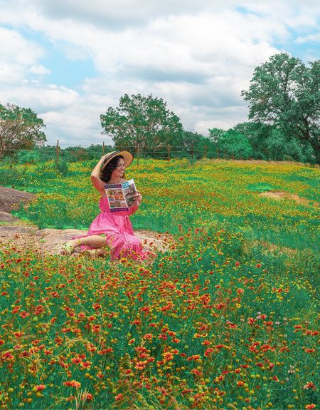 Pink summer dress braided dresses Texas magazine