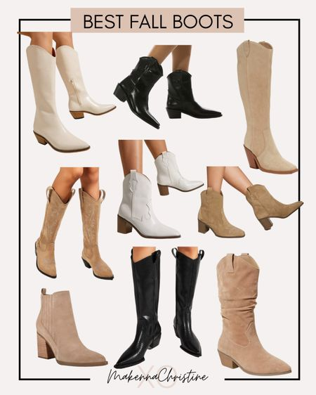 Fall boots and booties! Knee high boots, western style boots. Boots under $50!