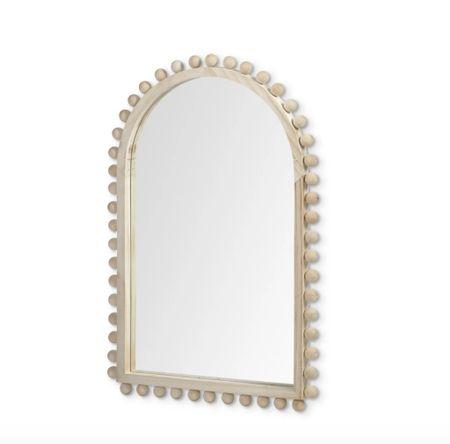 Wood mirror, beaded mirror    #LTKsalealert #LTKhome #LTKunder100