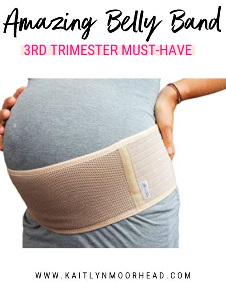 I don't know how I would have made it through the last month of my third trimester pregnant without this pregnancy belly band! It did wonders to support my baby bump + back so I could continue to walk + play with my toddler. A must have for any mom having belly or back pains. And it's such a reasonable price! 🤰🏼 #LTKbump #LTKbaby #LTKunder50 @liketoknow.it.family http://liketk.it/2TpTJ #liketkit @liketoknow.it