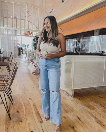 Happy hour to start the weekend off! A bodysuit and jeans have been my go to lately!  #LTKunder50 #LTKstyletip #LTKDay