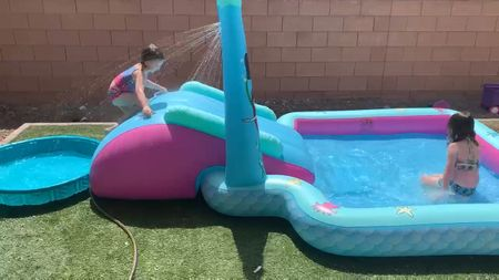 The girls love this mermaid blow up pool from sams club.   #LTKswim #LTKhome #LTKSeasonal