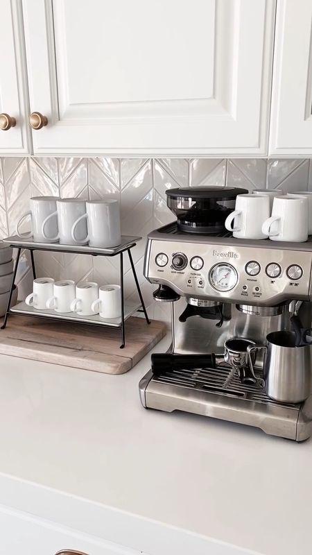 Coffee bar, espresso machine, kitchen accessories, kitchen essentials, neutral home decor, simple home decor, white kitchen, StylinByAylinHom  #LTKunder100 #LTKhome #LTKstyletip