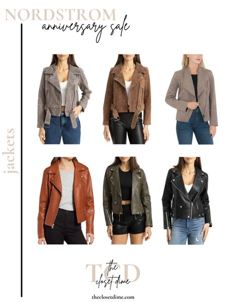 Nordstrom Anniversary Sale Picks! My favorite jackets are on major sale these next 3 weeks and they're SUCH a good steal!  Leather jackets, suede jackets, moto jackets and more! 🤍 @liketoknow.it #liketkit #LTKunder100 #LTKworkwear #LTKsalealert http://liketk.it/3jtr4