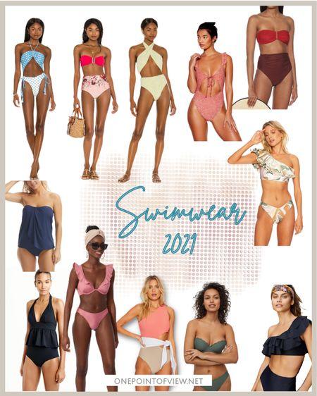 - swimwear 2021, one piece swimsuit, bathing suit, bikini, monokini, tankini, high waist bathing suit, push-up swimsuit  http://liketk.it/3iavg #liketkit @liketoknow.it   #LTKswim #LTKeurope #LTKunder100