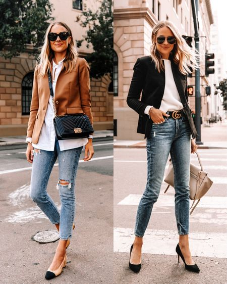This blazer from jcrew is such a classic staple I had to have in both camel and black. Perfect for work to weekend #businesscasual #falloutfits   #LTKstyletip #LTKunder100 #LTKworkwear