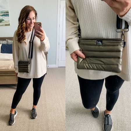 Evereve new arrivals  waffle tunic size down if inbetween in a L but could do a medium// leggings tts // sneakers size up 1/2    #LTKfit #LTKcurves #LTKshoecrush