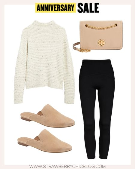 A cozy, casual look for weekends featuring Nordstrom Anniversary Sale pieces. This Tory Burch shoulder bag is one of my favorite purses.   #LTKsalealert #LTKSeasonal #LTKitbag