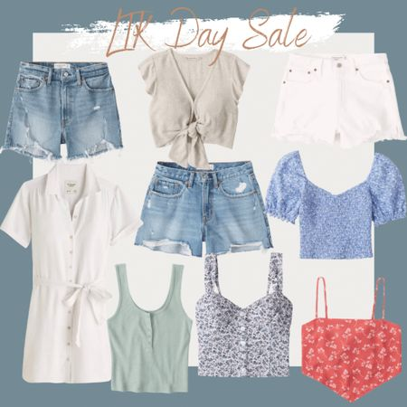 http://liketk.it/3gXMl #liketkit @liketoknow.it #LTKDay #LTKsalealert linen shirt dress, linen tie front ruffle sleeve top, high rise mom shorts, distressed shorts, 90s high rise shorts, ribbed Henley tank, wide strap button tank, floral top, scarf top, bandana top, smocked puff sleeve top, vacation outfit, summer outfit