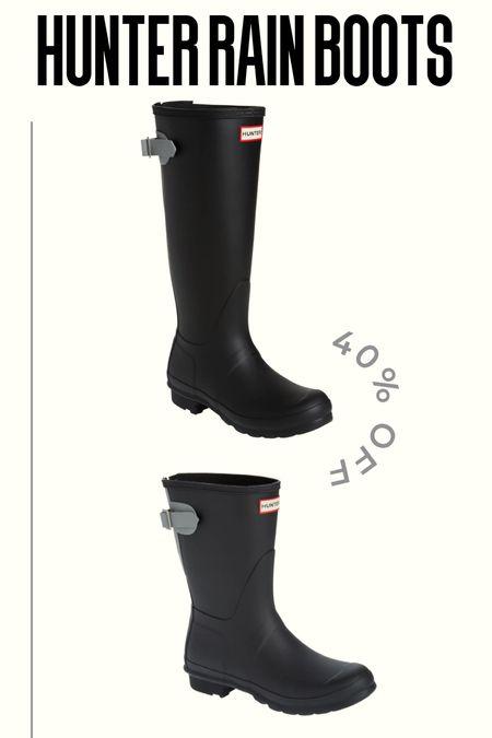 Hunter Rain Boots on sale  #LTKshoecrush #LTKsalealert
