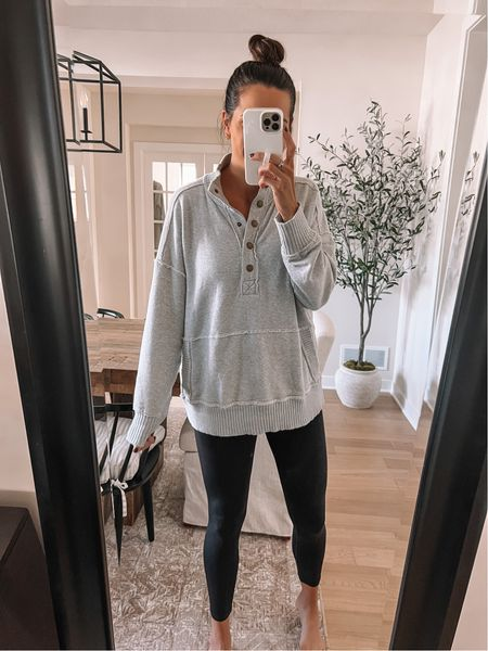 Aerie pullover: sized up to a M  Leggings: true to size (S)   #LTKstyletip #LTKunder50 #LTKunder100