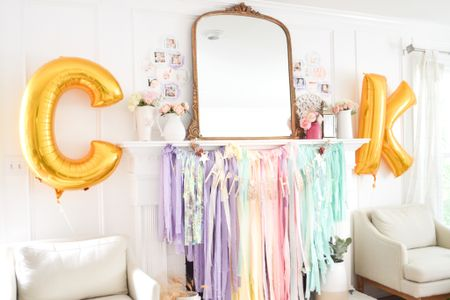 First birthday party, girls birthday party, French birthday party theme, home decor, pastel decor, party decor  #LTKfamily #LTKhome #LTKbaby