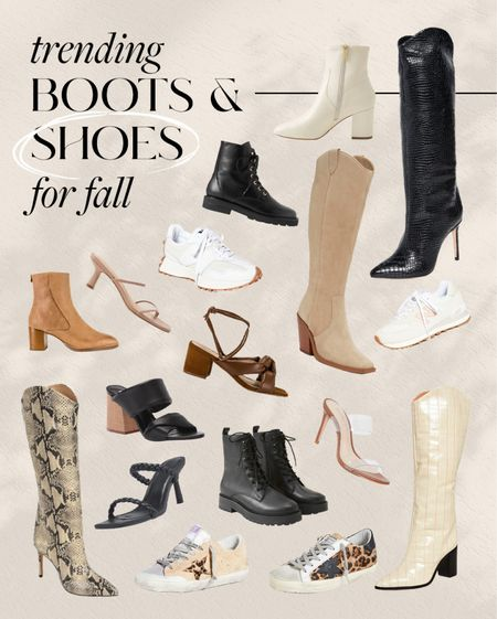 trending boots & shoes for fall #boots #fallshoes