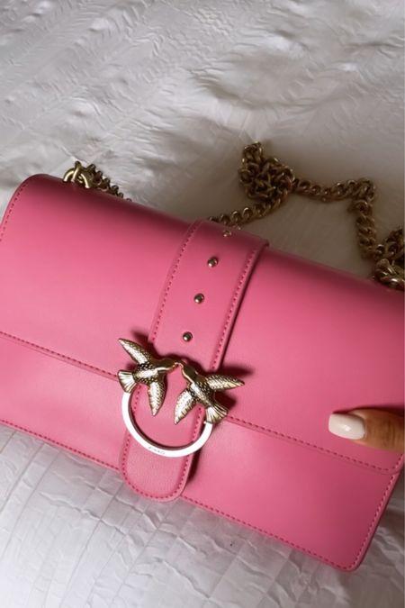 Pinko classic love leather bag 💗  #LTKstyletip #LTKitbag