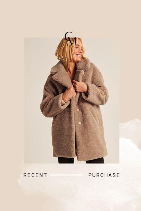 A&F teddy coat- on sale! Comes in several colors   #LTKsalealert #LTKSale