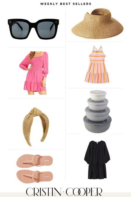 Weekly Best Sellers // sunglasses, sun hat, dresses, girls dress, headband, flip flops, bowls http://liketk.it/3gOFO #liketkit @liketoknow.it