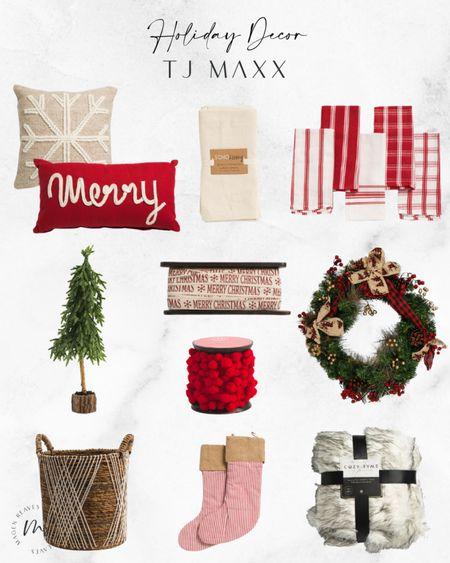 Holuday Decor from TJ Maxx holiday decorations holiday home decor holiday home decorations christmas decor christmas home decor christmas home decorations faux tree on wood holiday wreath cabdy cane stokings christmas ribbon http://liketk.it/3pzR3 #liketkit @liketoknow.it #LTKunder100 #LTKunder50 #LTKsalealert #LTKhome