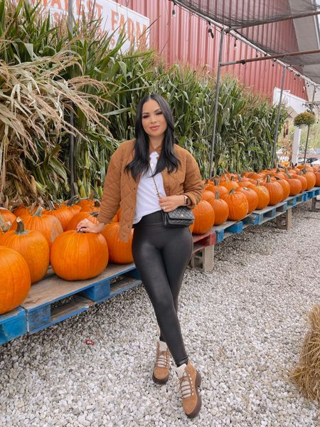 Morning well spent 🎃 Loving this outfit from @walmartfashion I'm wearing size small jacket. Medium leggings. Would you guys want to see another Walmart clothing haul? 😍😍   #LTKHoliday #LTKunder50 #LTKGiftGuide