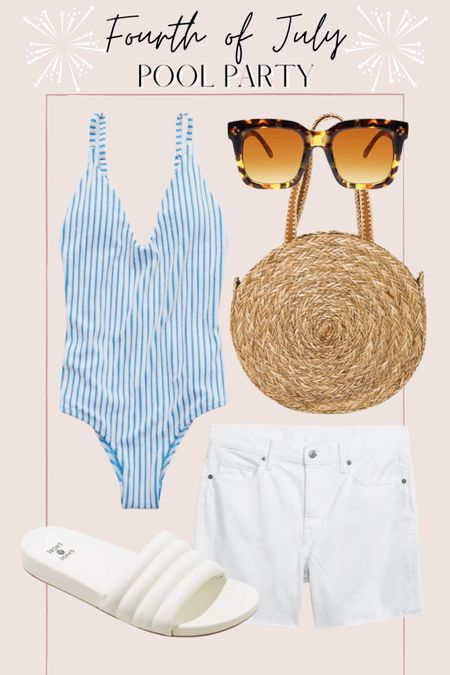 Fourth of July pool party or beach day outfit http://liketk.it/3hR2H @liketoknow.it #liketkit #LTKunder50 #LTKunder100 #LTKswim