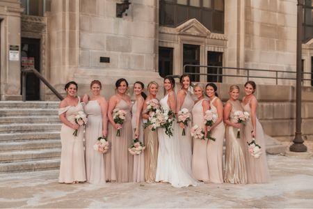 Just a bride & her beautiful BFF's 💕  #bride #bridesmaids #bridesquad #girlsquad #neutralwedding #neutralbridesmaids #champagnebridesmaids #champagnedresses #pearlwedding #pearlaccessories #bridalaccessories #weddingshoes #pearlearrings #weddingshoes #pearlveil #weddingveil #whiteheals #whiteshoes http://liketk.it/37OUV #liketkit @liketoknow.it