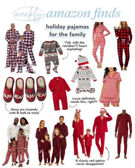 Christmas pajamas for the family, family matching pjs for Christmas   #LTKkids #LTKHoliday #LTKfamily