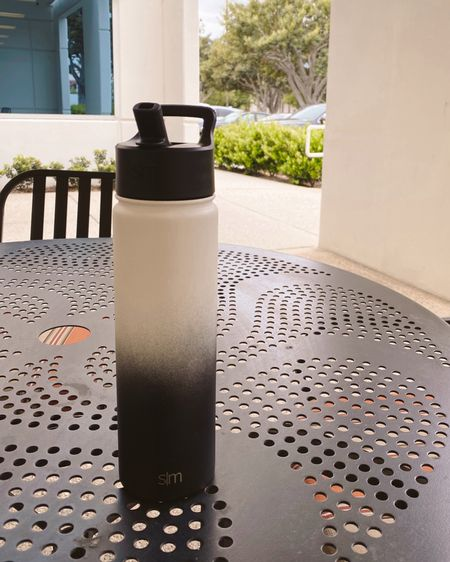 Insulated Water Bottle with Straw Lid Reusable Wide Mouth Stainless Steel Flask Thermos, 22oz. Color Ombré: Tuxedo   http://liketk.it/3dQil #liketkit @liketoknow.it #LTKunder50 #LTKsalealert #LTKworkwear