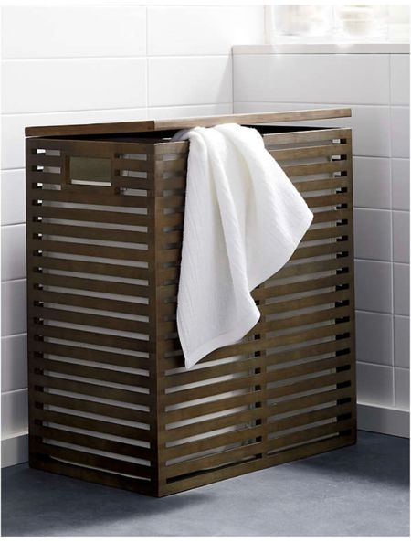 Bamboo hamper with double inserts   #LTKhome