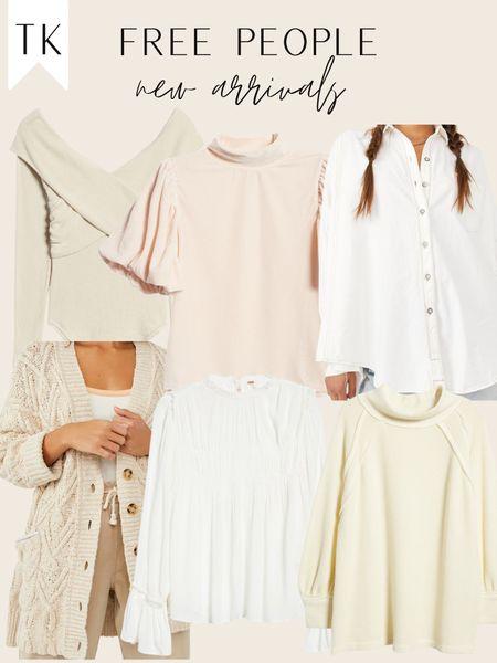 free people new arrivals / fall ootd / fall neutrals / neutral wardrobe / cardigan / cream sweater / white button up / velvet top   #LTKsalealert #LTKSeasonal #LTKHoliday