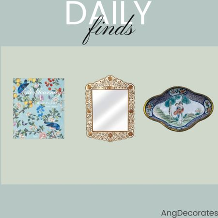 Daily Finds: A gorgeous coffee table book, a bone inlay statement mirror, and a vintage cloisonné ring dish  #LTKhome